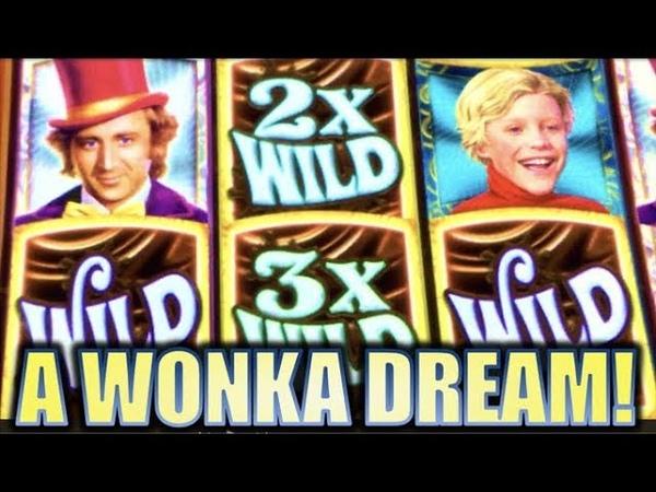 ★WILLY WONKA DREAM FACTORY★ $4.00 MAX BET SESSION! Slot Machine Bonus.
