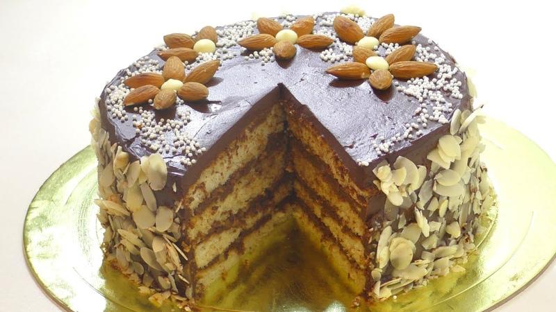 Миндальный торт ОСОБЕННЫЙ бисквит Джоконда. Almond cake.