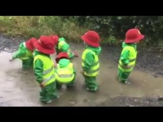 Прогулка в детском саду. Европа.