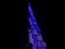 Лазерное шоу на Burj Halifa