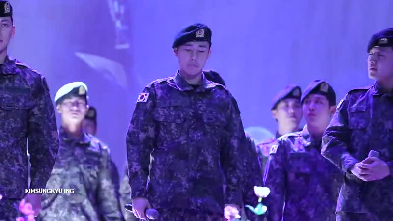 [201118] Сонгю с актерами мюзикла Sinheung Military Academy на Arirang Hangil Concert. (cr.ange_kyu89)