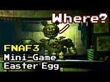 Five Nights at Freddy's 3 - All Secrets Mini-Game Easter Egg FNAF 3