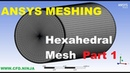 ANSYS MESHING - Hexahedral Mesh - Pipe - Part 1/2