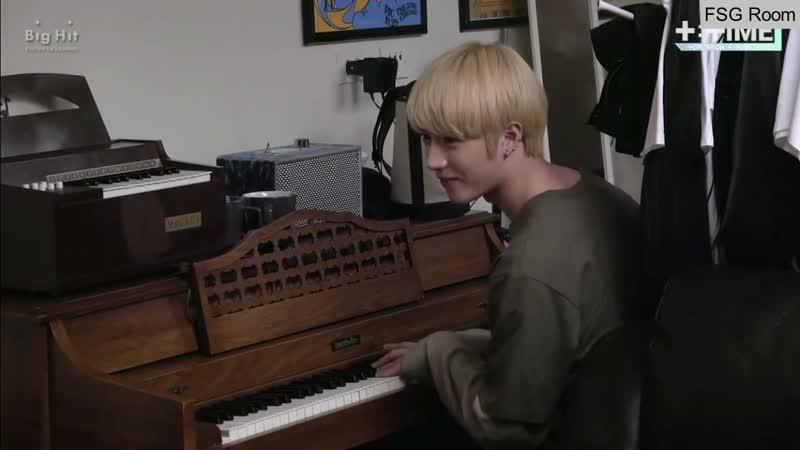 RUS SUB TXT [TTIME] BEOMGYUs Mini piano concert! (русские субтитры)