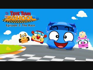 Tire Town School 3 - The Race - Cars - Little Fox - Animated Stories for Kids