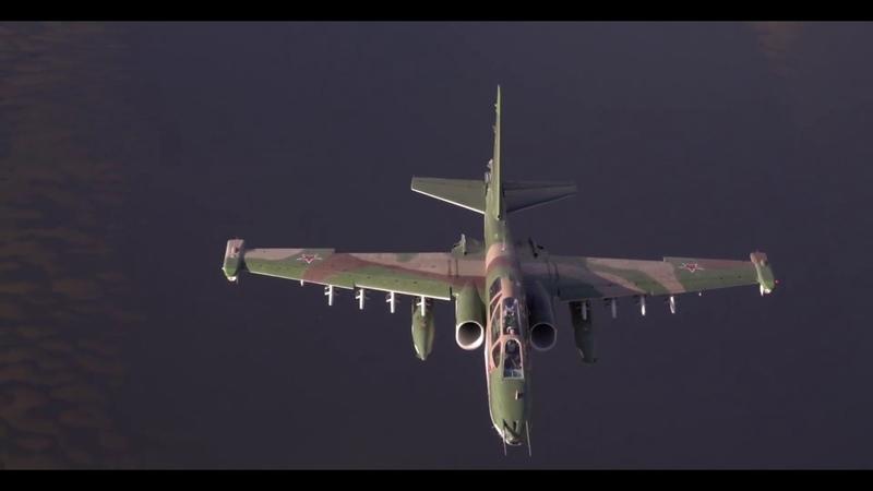Командирские полеты летчиков штурмовиков Су-25 и бомбардировщиков Су-34 ВКС России