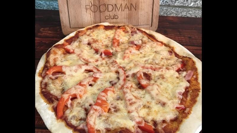 Пицца на тонком тесте с ветчиной и сладким перцем: рецепт от » Freewka.com - Смотреть онлайн в хорощем качестве