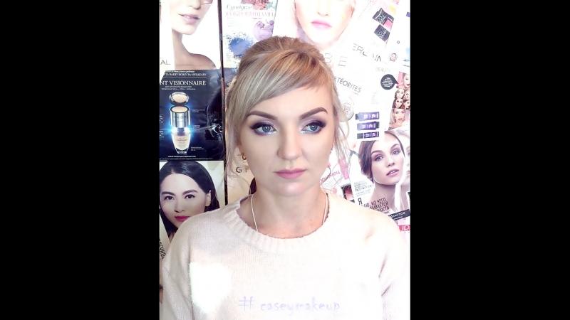Ксения Саватеева. Нежный макияж и собранные волосы на фотосессию