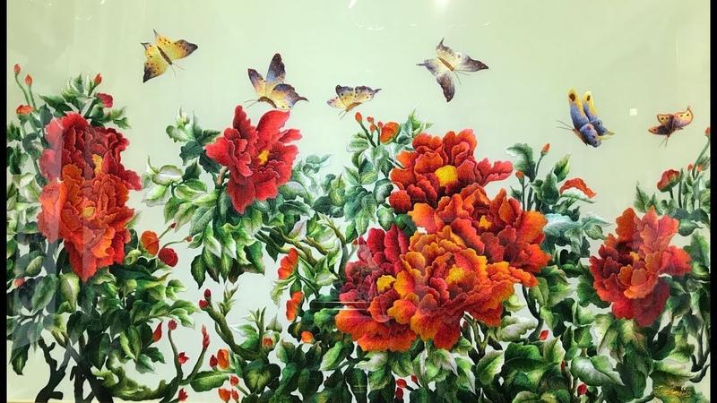 Những Bức Tranh Thêu Hoa Mẫu Đơn Đẹp Nhất Hiện Nay