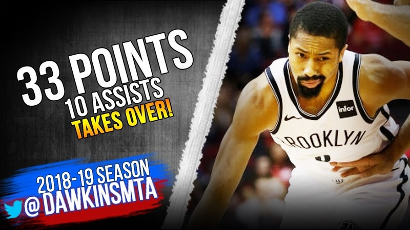 Spencer Dinwiddie Full Highlights 2019.01.16 vs Rockets - 33 Pts, 10 Asts, CLUTCH! | FreeDawkins