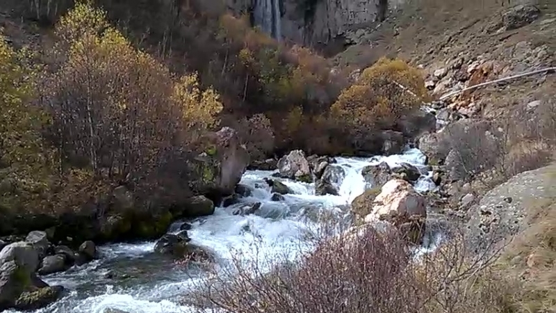 Водопад Султан КБР река Малка