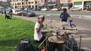 DrummerBoyAaron Performs Rude Boy by Rihanna live Ft his drunk back up Dancer
