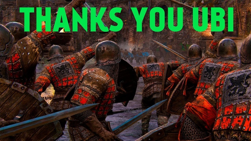 Thanks you Ubi (For Honor)
