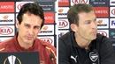 Unai Emery Stefan Lichtsteiner Full Pre-Match Press Conference - Arsenal v Vorskla Poltava