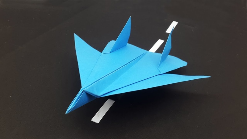 How to make a Paper Airplane F18 Fighter Jet - Best Paper Planes Making Tutorial