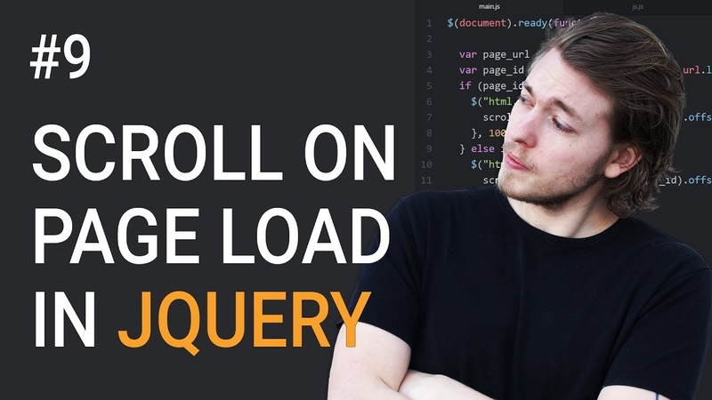 9: Animated scroll to a section on page load - Learn jQuery front-end programming