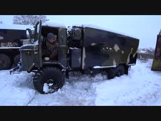 Как сломать лебедку Урал 4320,подготовка к битве урал и газ66 в снегу!!!
