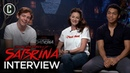 Chilling Adventures of Sabrina Cast Interview Ross Lynch Michelle Gomez Chance Perdomo