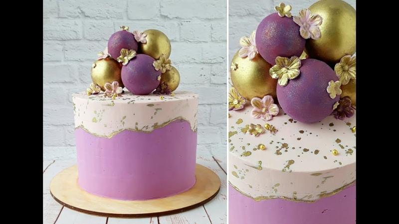 Двухцветный торт. Шоколадные сферыTwo-color cake. Chocolate Spheres