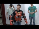 Police Detain Man Speeding Down Highway in Roller Suit in Northwest China