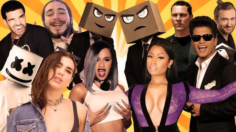 Djs From Mars Best Songs Of 2018 Rewind Megamashup 40 tracks in 5 minutes