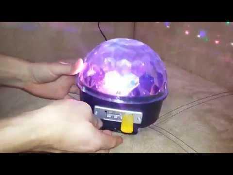 Светомузыка дома Диско шар светодиодный с МР3 плеером Обзор MP3 LED Magic Ball Light