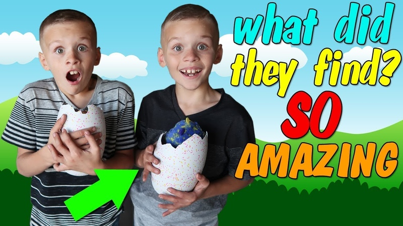 Twins Backyard Surprise Toy Hunt Adventure