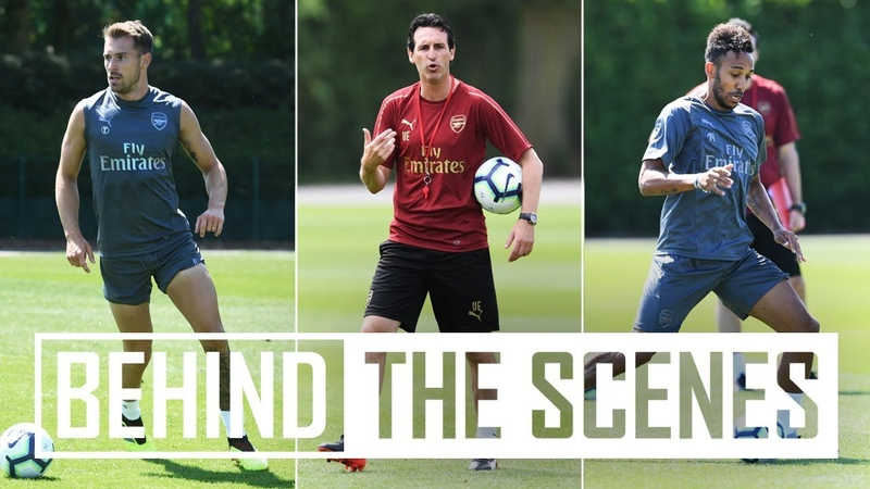 Unai Emery's first Arsenal training session   Exclusive behind the scenes