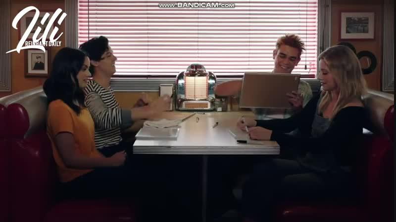 2018 Интервью каста Ривердейл во время съемок рекламы для компании Netflix русские субтитры