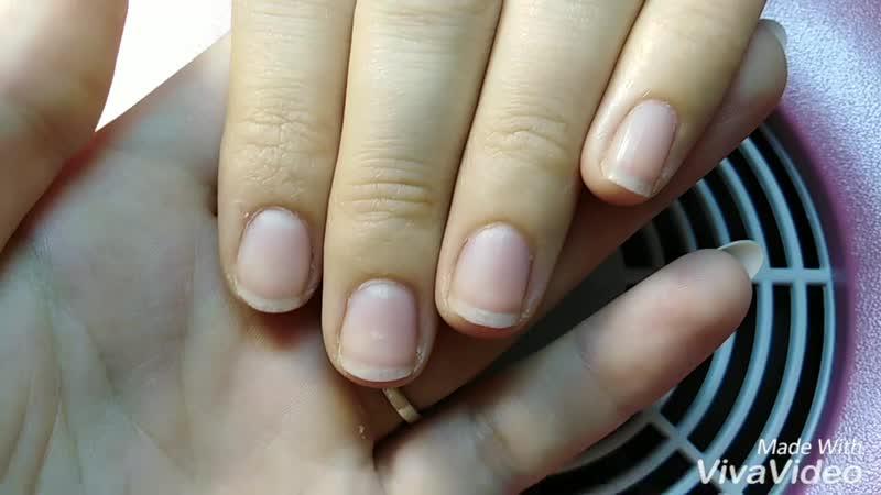 Укрепление ногтей комуфлирующим гелем