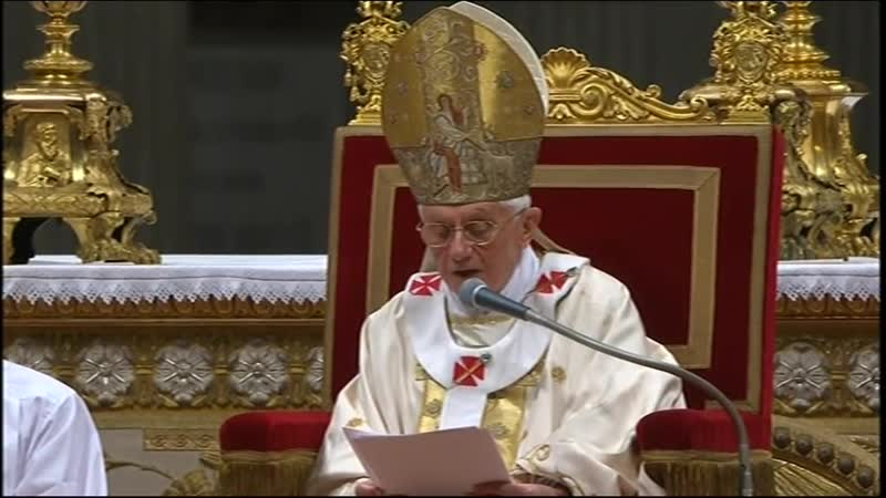 Месса Навечерия Пасхи Христовой 2011 с Папой Бенедиктом XVI