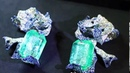 200 carat emerald earrings by Cindy Chao presented at the Biennale des Antiquaires