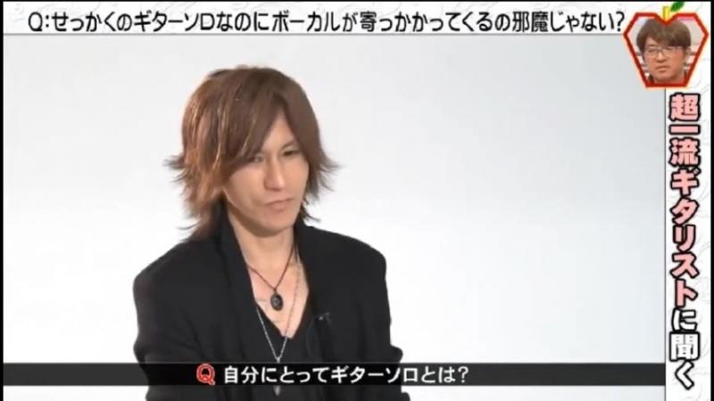 SUGIZO at Samaazu no Kamigimon 2018818 (Fuji TV)