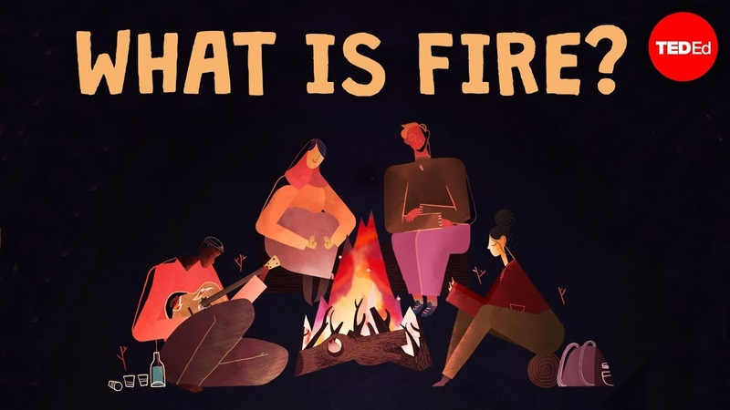 Is fire a solid, a liquid, or a gas - Elizabeth Cox