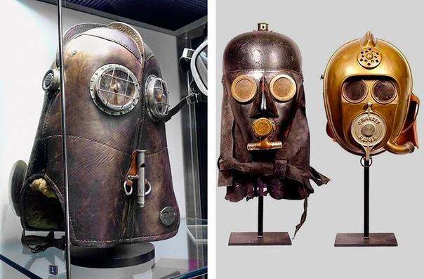 На этих снимках запечатлены реальные шлемы французских пожарных 18701880 годов