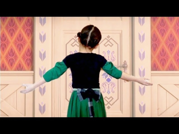 FROZEN Do you want to build a snowman? Anna and Elsa Real Life Cover for Kids