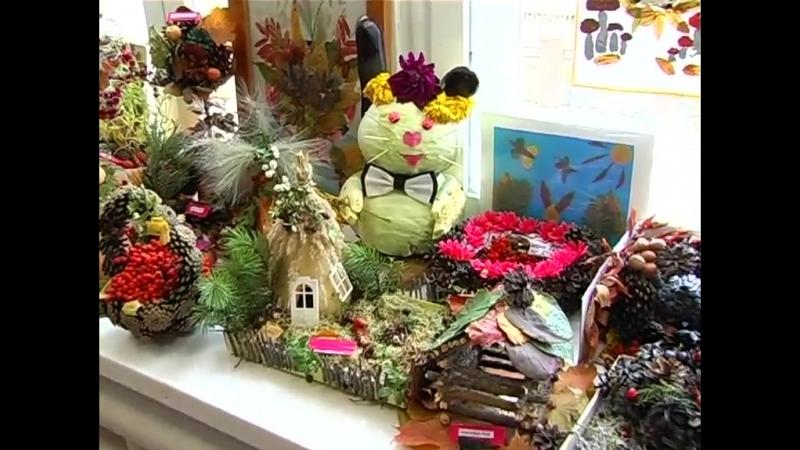 Выставка подделок из природного материала в детском саду