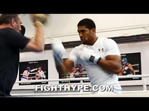 ANTHONY JOSHUA UNLEASHES FRIGHTENING POWER SMASHES MITTS AHEAD OF POVETKIN CLASH anthony joshua unleashes frightening power sm