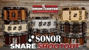 Sonor Snare Drum Shootout SQ2 Phonic and One of a Kind