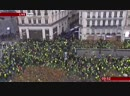Latest pictures of clashes between police and yellow vest anti-government protesters in Paris