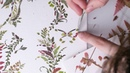 Miniature Butterfly made using Pressed Fern