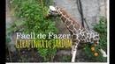 Como fazer uma Girafa de Cimento