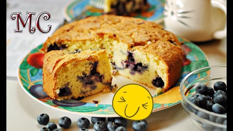Puszyste Ciasto z Borówkami – PRZEPIS – Mała Cukierenka
