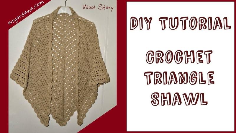 DIY Tutorial - Crochet Triangle Shawl (Heklani šal/marama)