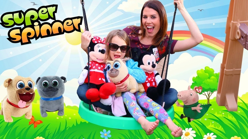 NEW Backyard Swing Set For Our Playground With The Super Spinner!