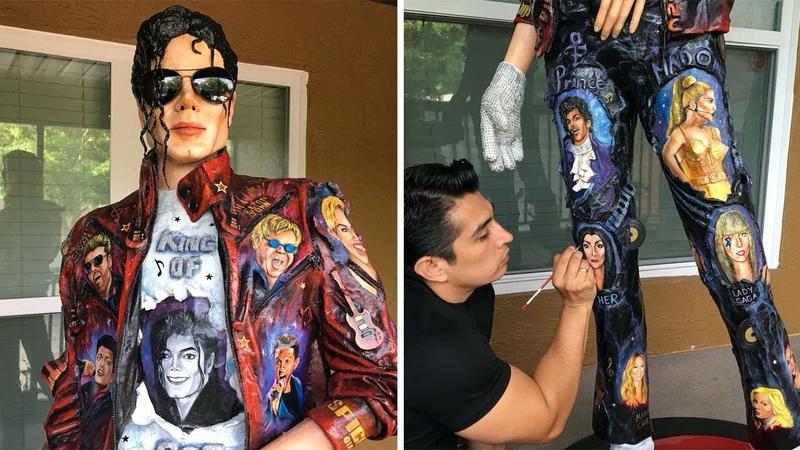 Amazing Lifelike Michael Jackson Sculpture
