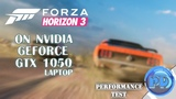 Forza Horizon 3 on NVIDIA GeForce GTX 1050 (laptop)