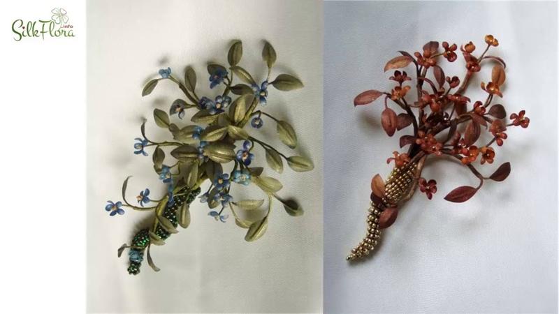 Цветы из шелка в мужском гардеробе