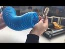 Шланг спиральный Pegas Pneumatic витой для компрессора с быстросъемными соединениями