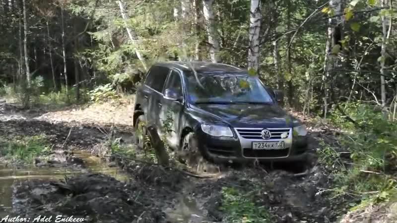Audi Q7 vs VW Tuareg - Offroad 4x4 Extreme Mud